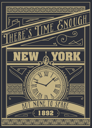none: Quote Typographical Background, vector design. Theres time enough, but none to spare.