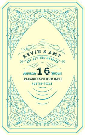 birthday invite: Retro wedding card