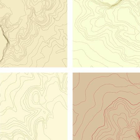 topographic: abstract topographic map set. Elements organized by layers.