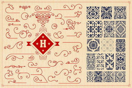 accents: Seamless Patterns and accents