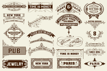 certificate background: 22 Labels and banners. Vector