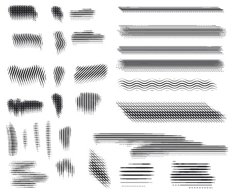Vector. Engraving brushes set. Stock Illustratie