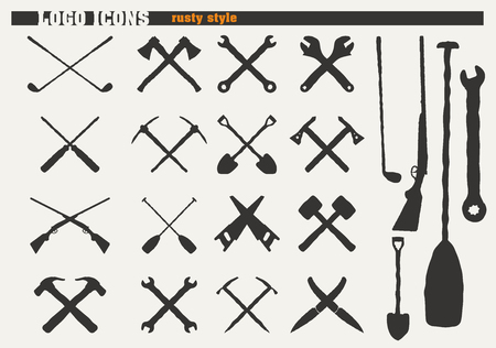ax: Set of rusty icons