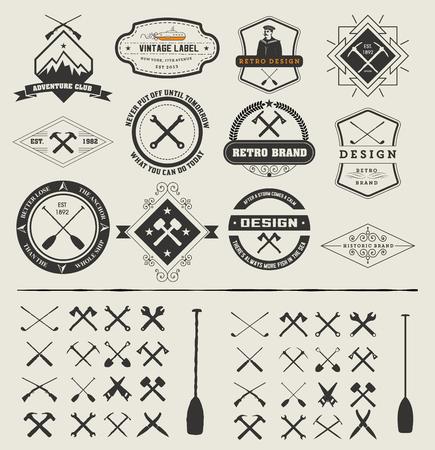 Set di loghi e icone Vettoriali