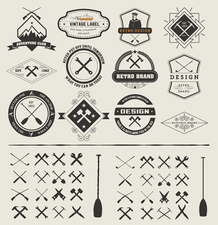 Set of logos and icons