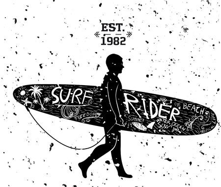 tattoo design: Surfing Design