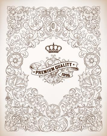 corona real: Vector, Marco retro