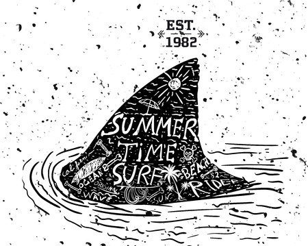 Summer design, grunge style