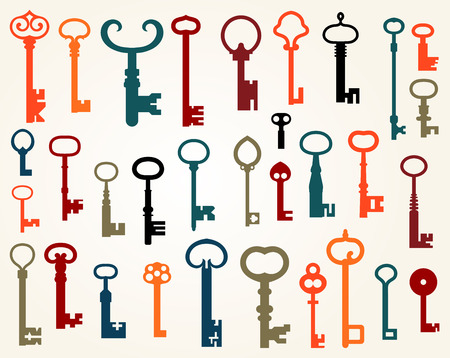 Set of old keys