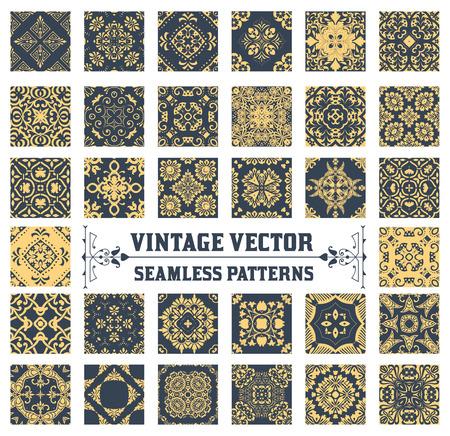 34 のシームレスなパターン背景コレクション  イラスト・ベクター素材