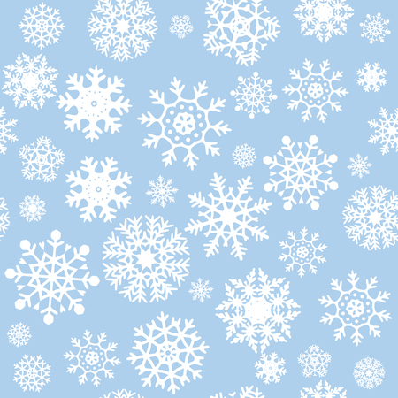 flocon de neige: Flocons de neige Seamless Background