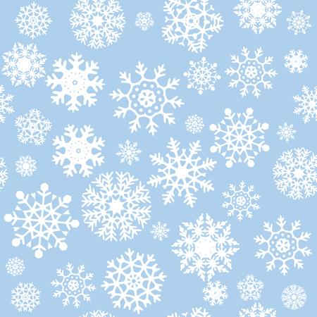 Snowflakes Seamless Background