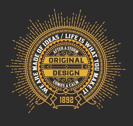 Vintage logo template, Hotel, Restaurant, Business or Boutique Identity. Design with Flourishes Elegant Design Elements.Vector