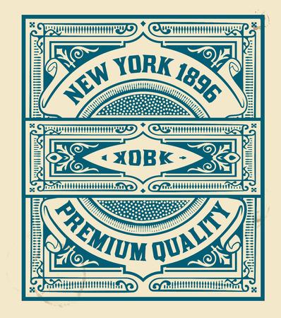 sello: Diseño del sello retro. Organizado por capas.
