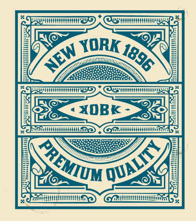 stamp: Retro stamp design. Organized by layers.