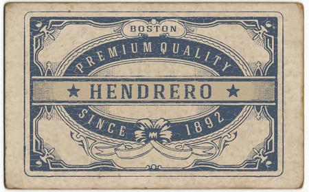 Retro label with cracked texture