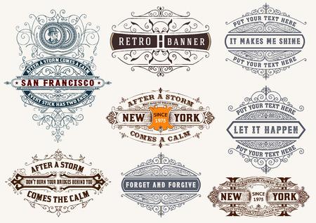 insignias: Conjunto de etiquetas y banners