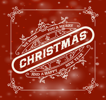 greeting card background: Christmas greeting card background. Illustration