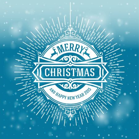 wish of happy holidays: Christmas greeting card background. vintage ornament decoration with Merry Christmas holidays and Happy new year message. Vector illustration.