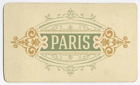 refine: Vintage label with old paper Illustration