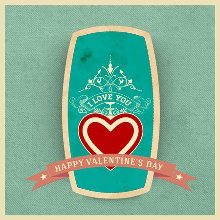 ephemera: Happy valentines day card Illustration