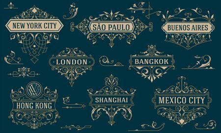 royal logo: Vintage logos and elements. vector template.