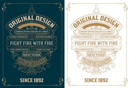 vintage design: Old card design