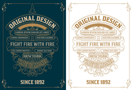 circle design: Old card design