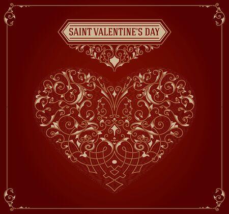 saint valentine's day: Saint valentines day card