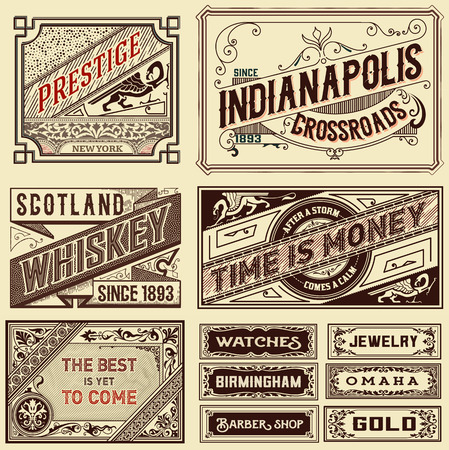 advertisement: Old advertisement designs - Vintage illustration