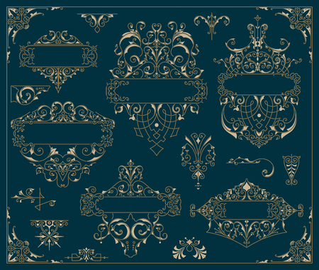 classic classical: Vintage logos and elements. vector template.