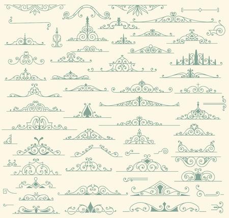 schriftrolle: Vintage-Ornamente Dekorationen Design-Elemente Illustration