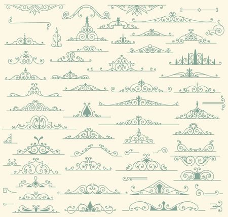 scroll shape: Vintage Ornaments Decorations Design Elements Illustration