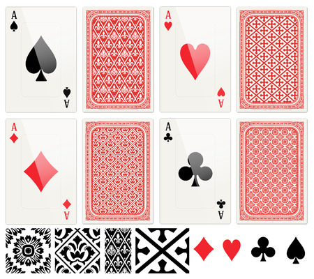 Poker-Karten festgelegt.