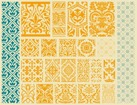 classical: 20 Seamless Patterns Background Collection - for design and scrapbook Illustration