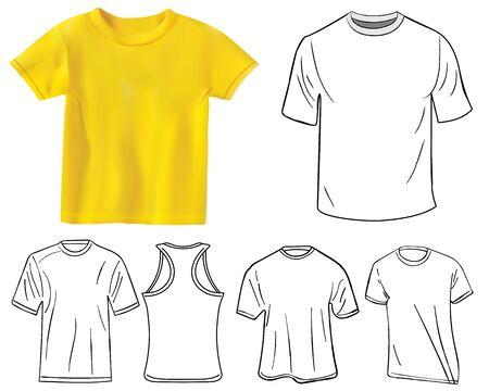 tshirt designs: Set of T-shirt designs