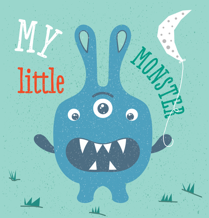 sweety: Monster illustration in baby style Illustration