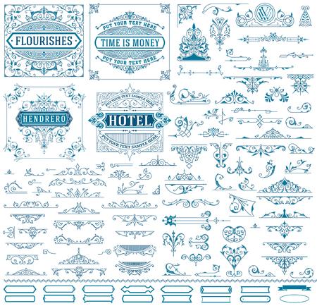 Kit de ressources pour Vintage invitations, bannières, affiches, écriteaux, Badges Vecteurs