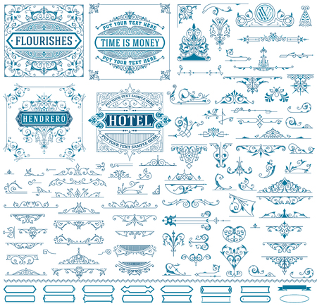 baroque: Kit of Vintage resources for Invitations, Banners, Posters, Placards, Badges Illustration