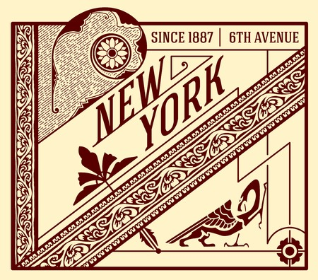 advertisement: Old advertisement design - Vintage illustration Layered Illustration