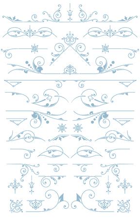 accents: Premium accents. Vintage Ornaments. Design Elements Illustration