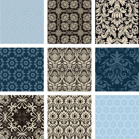 scroll: Floral backgrounds set Illustration