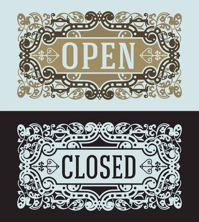 ephemera: Open and Closed cards set