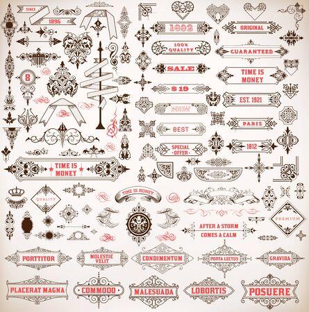 ornamental: Mega set. Design resources Illustration