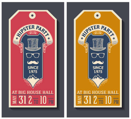 clothing tag: Hipster party labels