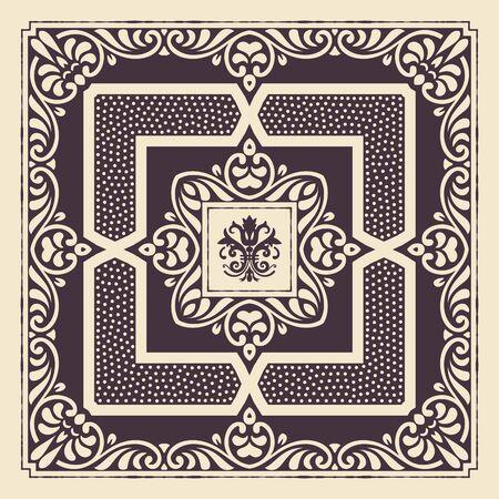 ephemera: Vintage card. Elements by layers.