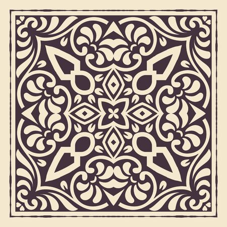 baroque: Vintage design. Elements by layers.