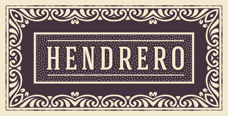 ephemera: Retro card. Elements by layers.