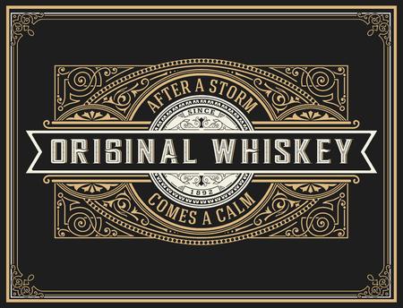 étiquette de whisky Old.