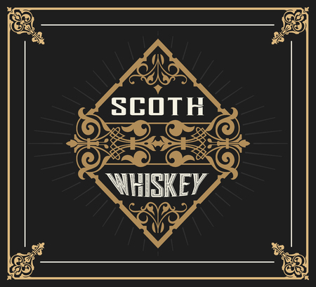 artdeco: Art-deco Whiskey card